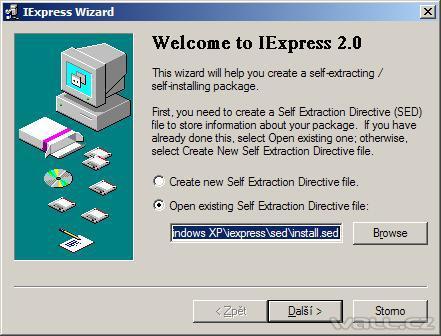 Iexpress - instalační balíček snadno a rychle